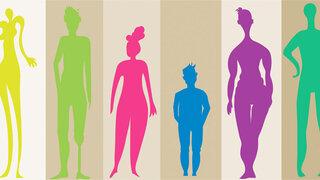 Bodyshaming Körpergefühl Silhouetten Farbig verschieden Körperformen