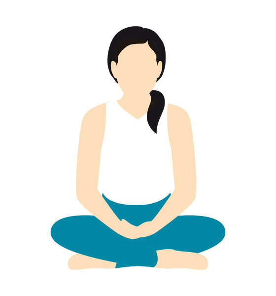 Ruhig und regelmäßig ein- und ausatmen