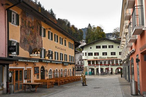 Leere Innenstadt von Berchtesgaden