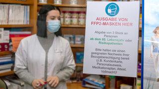 Apothekerverband: Gutscheinversand für FFP2-Masken läuft schleppend
