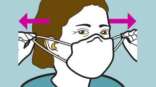 Infografik: Mund-Nasen-Schutz Maske und Hörgerät