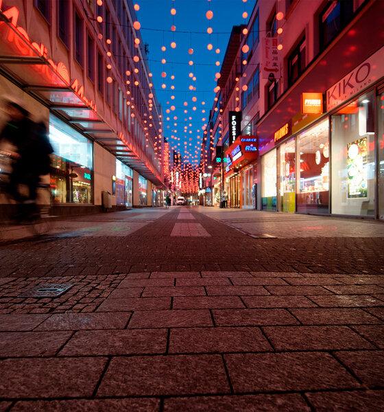 leere Fußgängerzone im Lockdown
