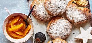 Stollenbrötchen mit Orangen-Fruchtaufstrich