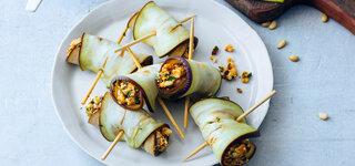 Feta Auberginenmantel Gemüse Mittelmeerküche
