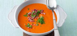 Tomaten-Süßkartoffel-Cremesuppe