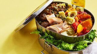Linsensalat mit Antipasti-Gemüse