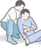 Rautek-Rettungsgriff: Fassen des Patienten