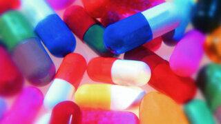Bunte Kapseln, Tabletten, Medikament