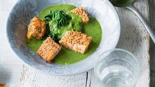Lachs-Spinat-Suppe