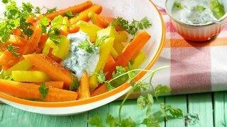Kohlrabi-Karotten-Pfanne