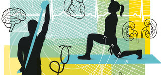 Illustration Sport zuhause