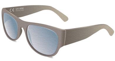 Das CE-Zeichen auf der Innenseite des Bügels zeigt an, dass die Brille die gesetzliche Norm für den UV-Schutz erfüllt