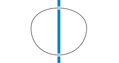 Brille aufstzen und eine gerade Linie ansehen: Verzerrungen deuten auf eine schlechtere Qualität hin