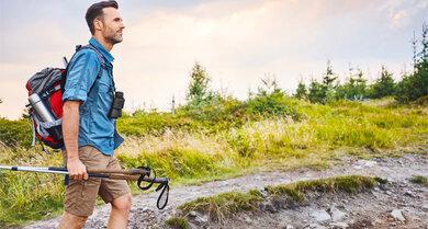 Wandern ist besser als joggen und trainiert die Kondition