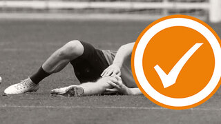 Fußball-Verletzung: Bänderriss