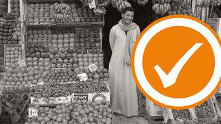 Afrikanischer Obst-Bazar