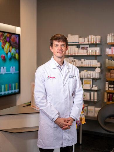 Dr. Christian Ude, Apothekeninhaber aus Darmstadt und Lehrbeauftragter an der Universität Frankfurt am Main