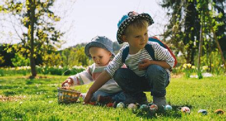 Ostern Ostereiersuche Kinder BuF