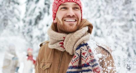 Mann im Winter