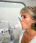Untersuchung der Lungenfunktion