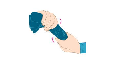 AU Training für starke Hände Wringen