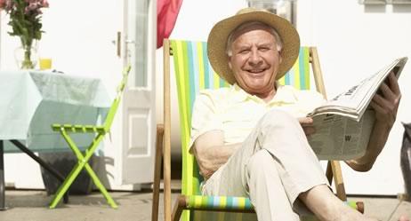 Zufriedener Rentner