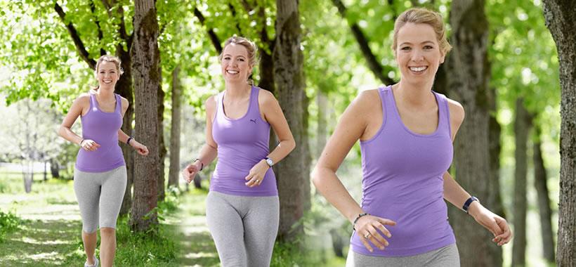 Redakteurin Julia Schulters beim joggen