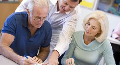 Senioren bei der Weiterbildung