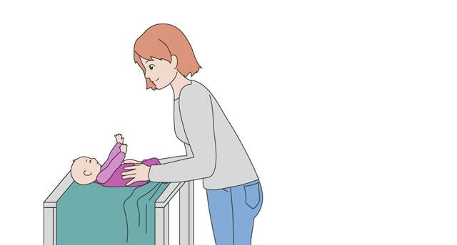 Baby-Tragetuch Bindetechniken