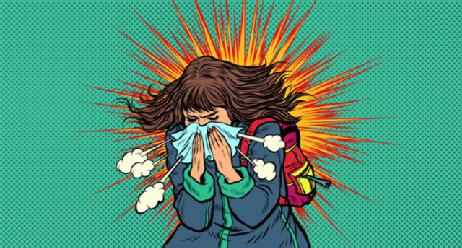Coronavirus Verbreitung Wie lange Ansteckend Niesen Viren Streuen