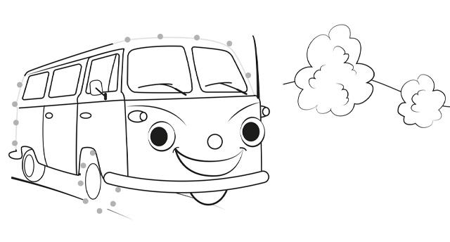 Ausmalbild Bus