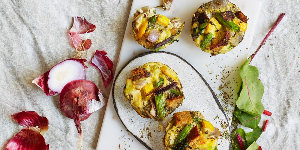Brot-Gemüse-Muffins